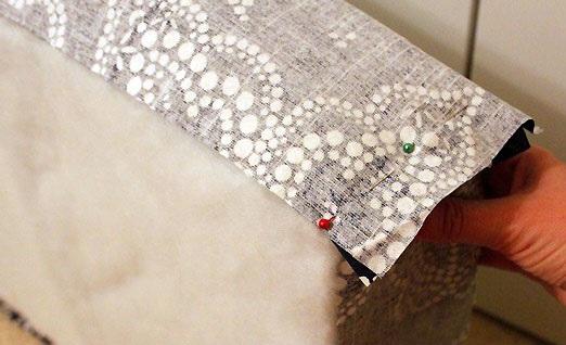 preparar telas para funda de almohadon de sillon