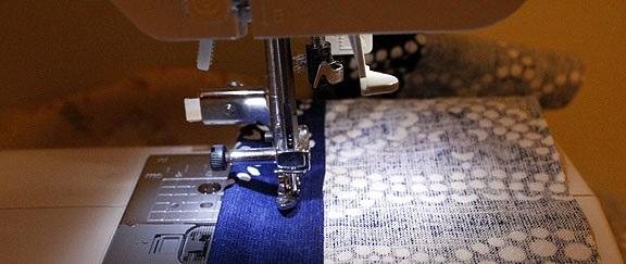 costura de telas para funda de almohadon de sillon