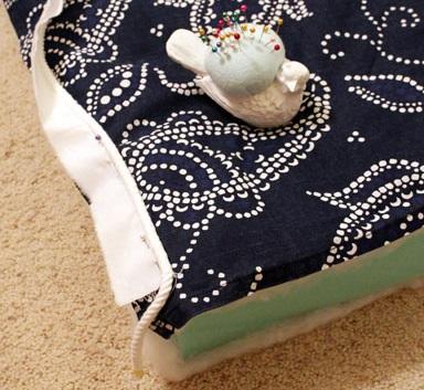 cordon decoracion con telas para funda de almohadon