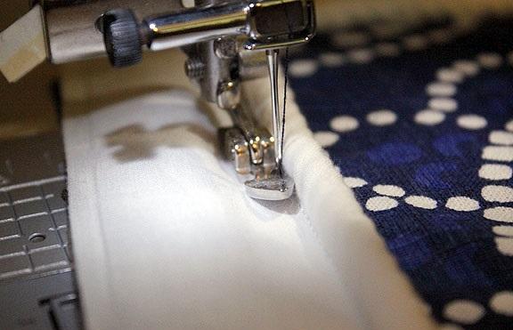 costura de funda de almohadon de telas para sillon