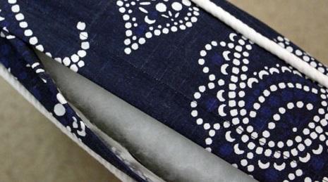 parte trasera de funda de tela para almohadon