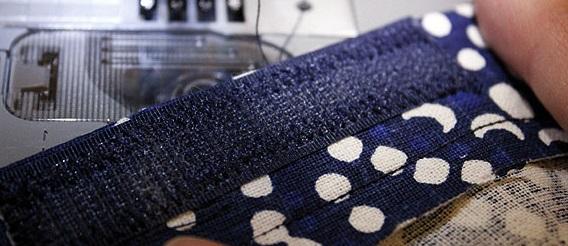 costura de velcro para funda de almohadon de sillon