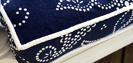 funda de almohadon cuadrado con cierre hecho con telas