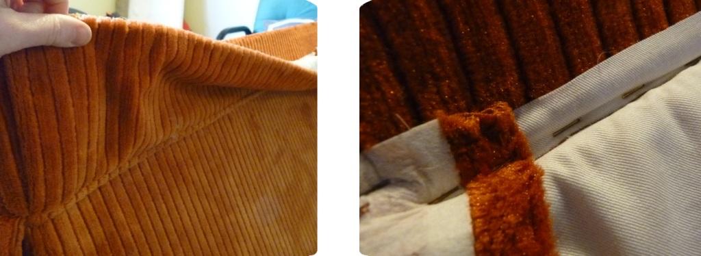 adorno decoración en parte de inferior de sillón para tapizar