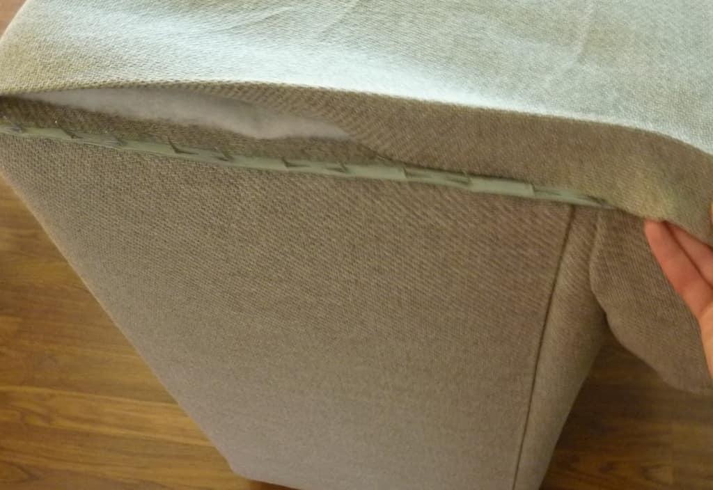 varilla para tapizado con tela cara posterior de silln