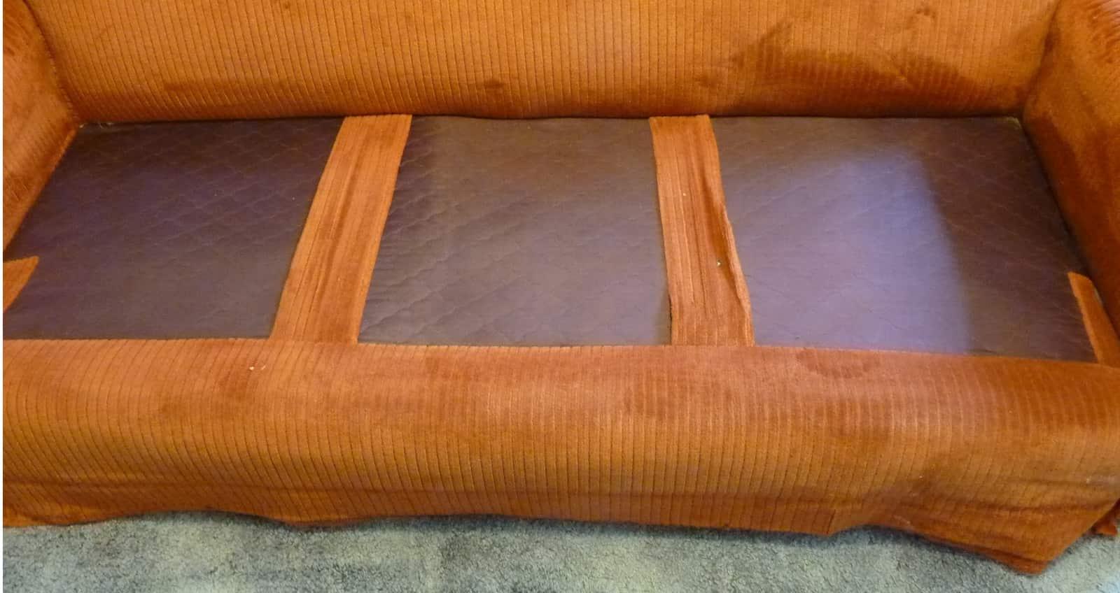 panel inferior de tela para tapizar sillón