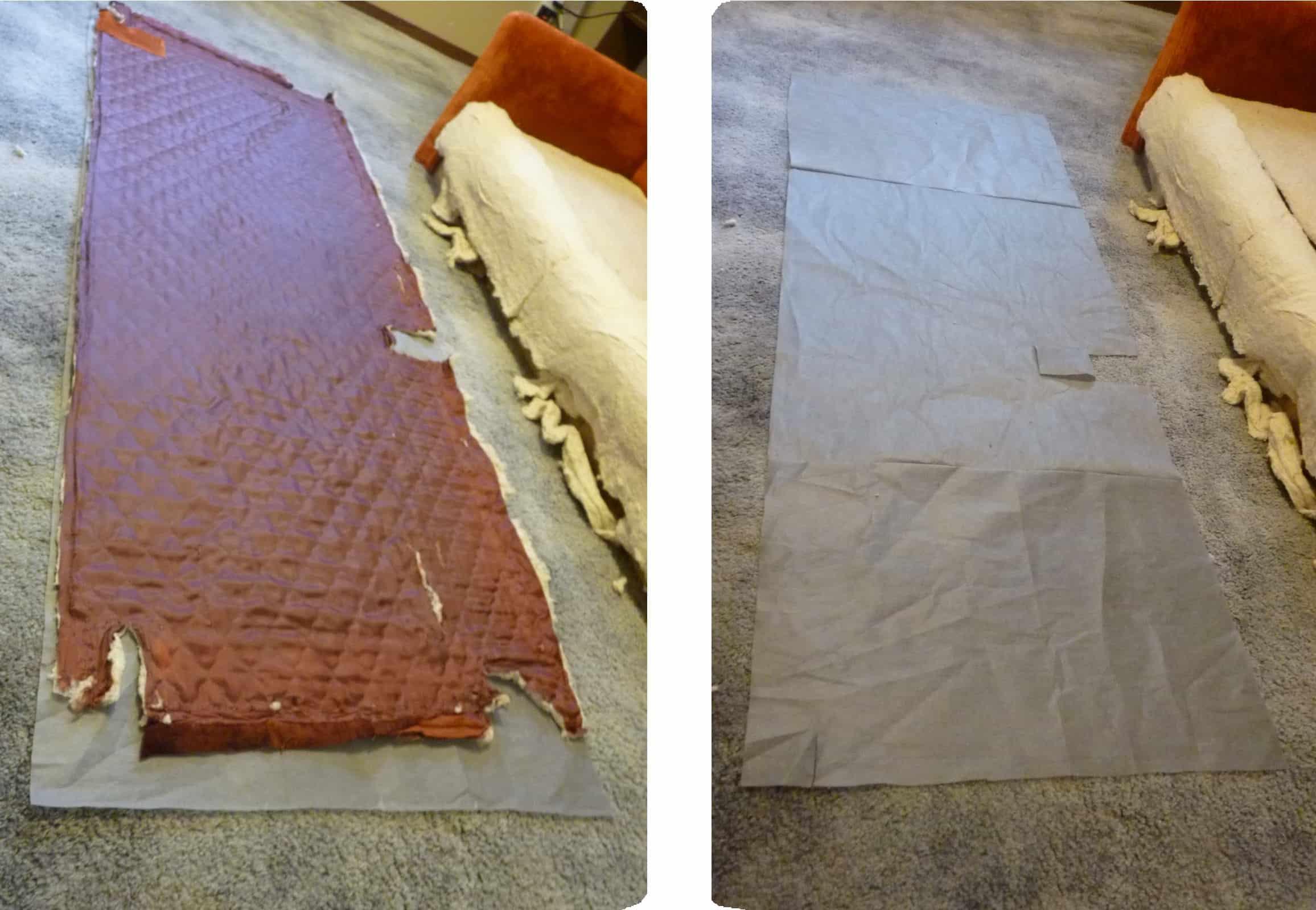 patrón de costura de tela para tapizar sillón