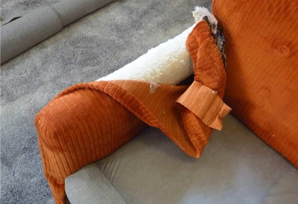 paneles de tela lateral para tapizar un sillón