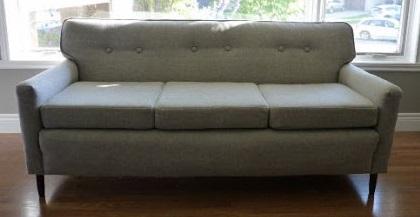 sillón tapizado terminado hermoso