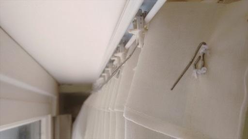 como hacer cortinas con tela con sistema de sujecion de rieles