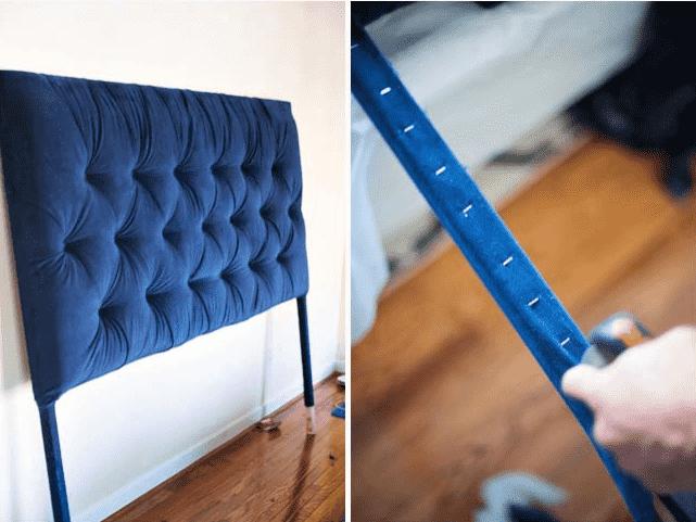 Colocación de respaldo de tela a la pared