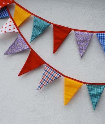 Cómo realizar unos banderines de tela.