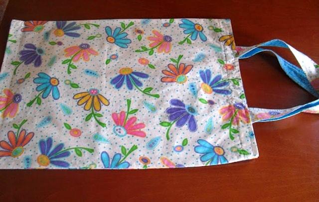 bolsa de tela ecológica terminada