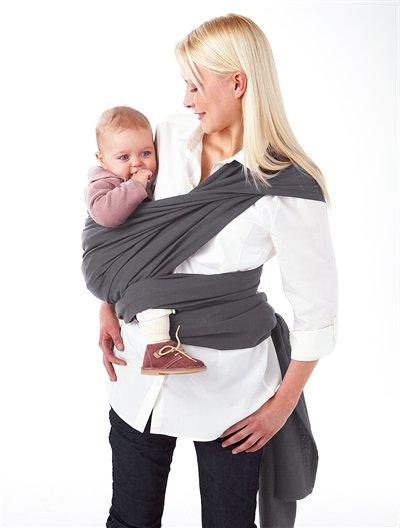 fular de tela para bebé terminado