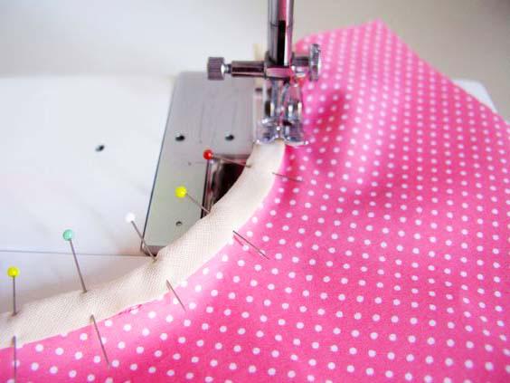 costura de pañal de tela