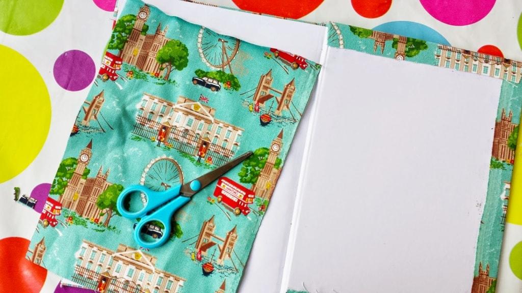 tapa inerna de cuaderno de tela