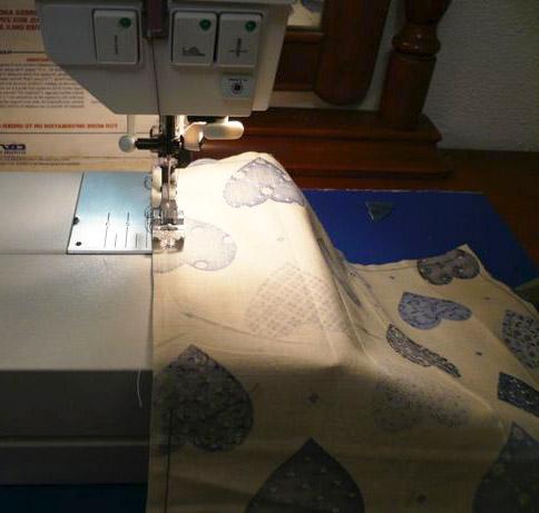 Costura de dobladillo para individual de tela