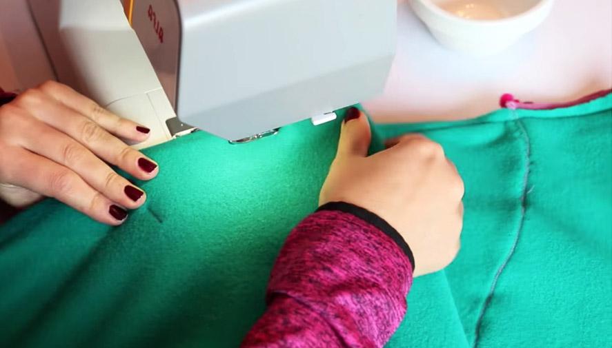 dobladillo de tela para manta