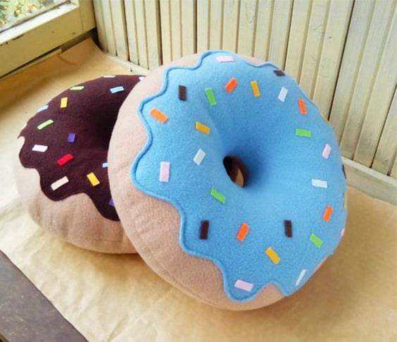 Cómo hacer un almohadón en forma de dona