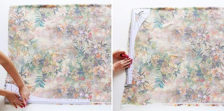 Marcado de tela para kimono