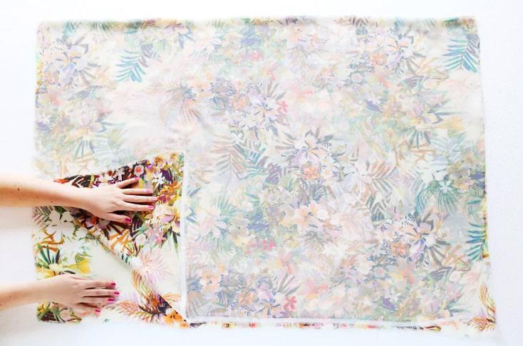 plegado de tela para kimono