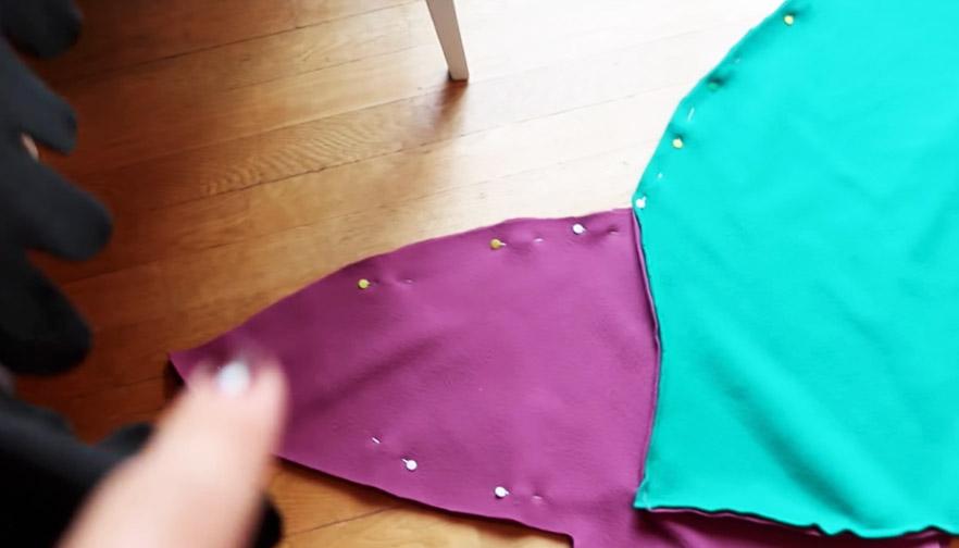 Unión de laterales para manta de tela