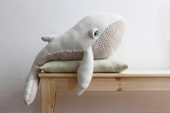 Cómo hacer un almohadón con forma de ballena