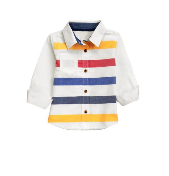 camisa de tela para niño terminada