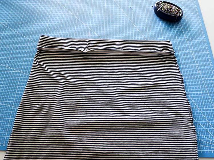 costura de dobladillo superior para falda de tela