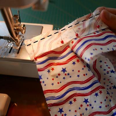 costura de tira de puño