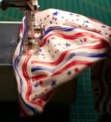 Costura del puño a la manga de tela