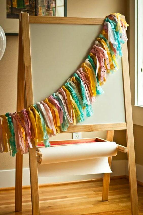 Cómo hacer un guirnalda de tela en cinco pasos