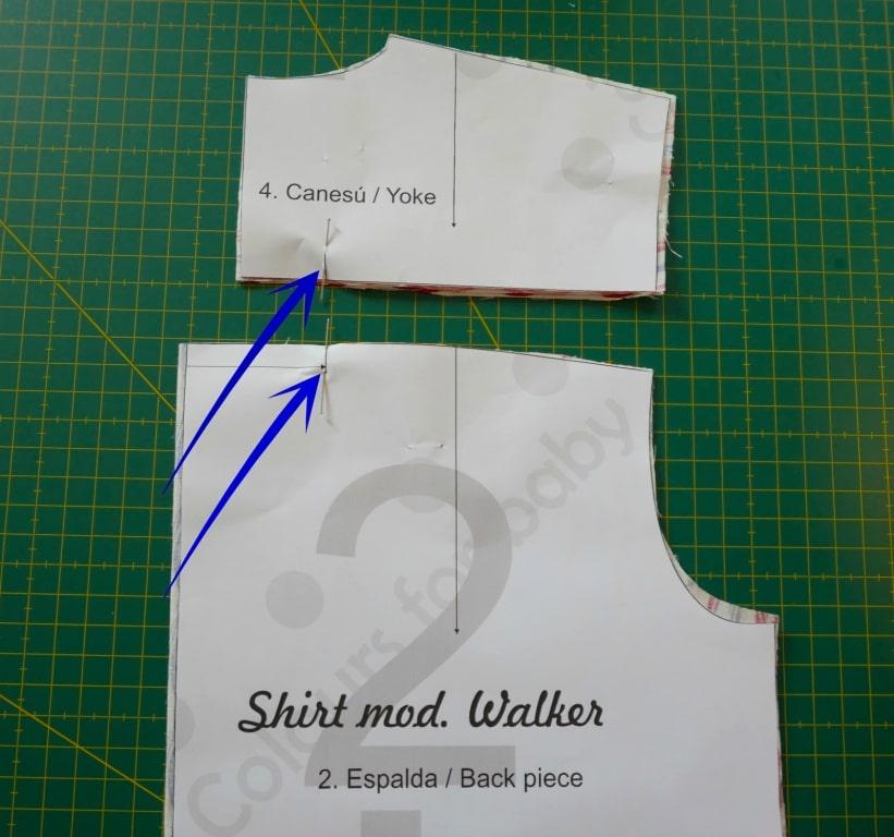 Corte de patrón para camisa de tela