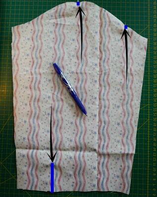 Marcdo de mangas de camisa de tela