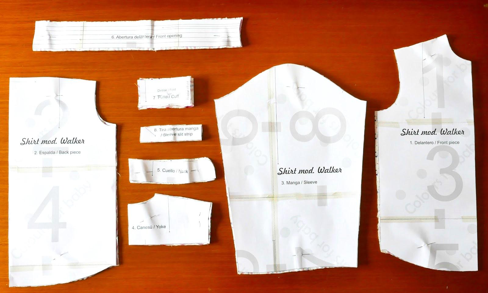 patrones para camisa de tela