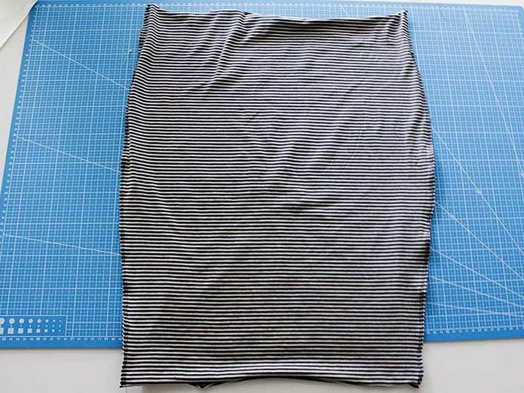 hilvanado de tela para falda