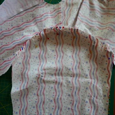 unión de mangas con la camisa