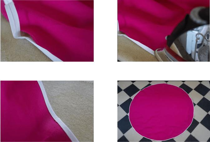 colocación de cinta en tela para lona