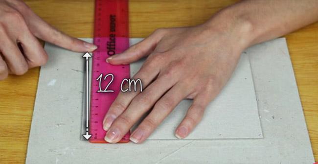 medidas del cartón para funda de celular de tela