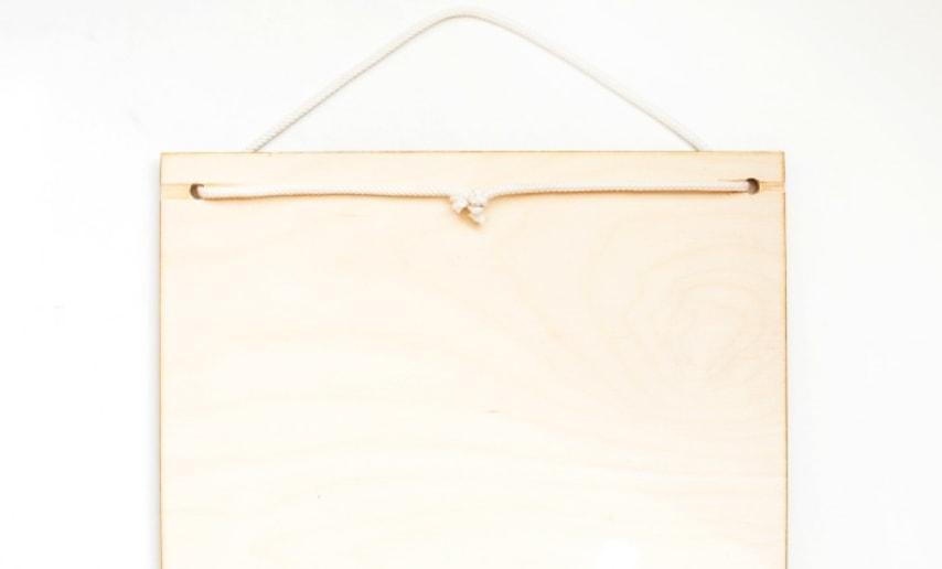 cierre de cordón a la madera del organizador de tela