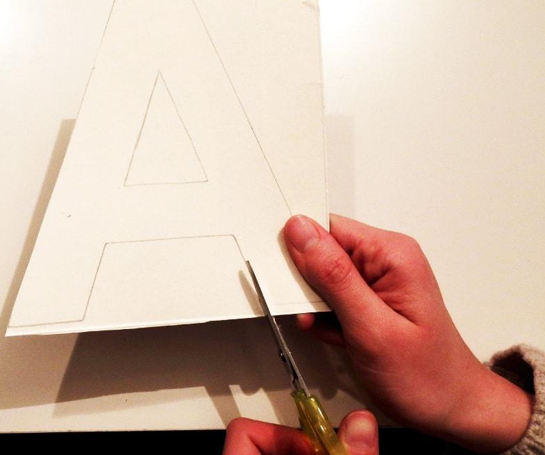 recorte de letra para letra de tela