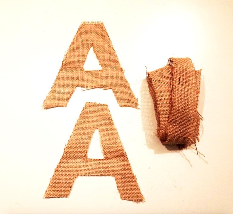 Recorte de tela para letras