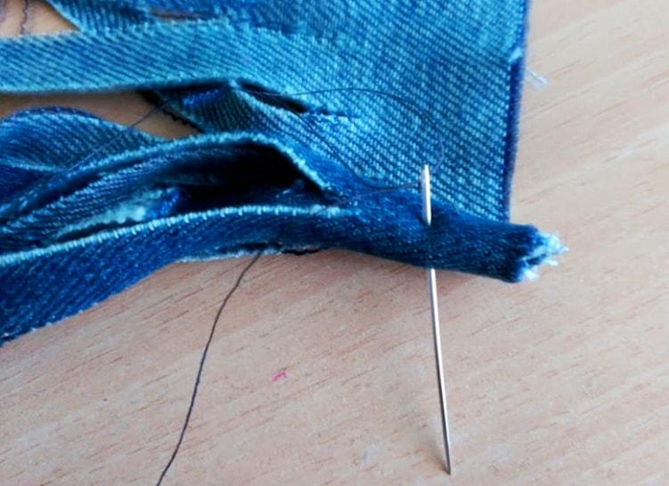 costura de tela para collar