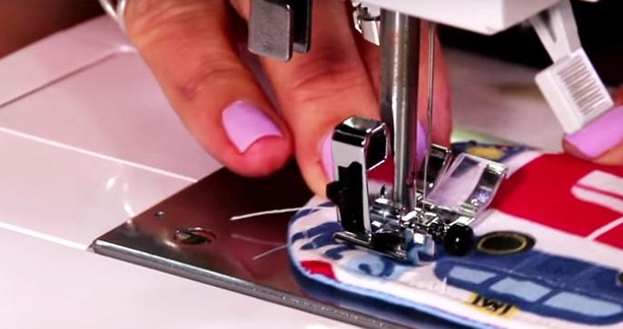 costura de velcro para funda de tela para cables