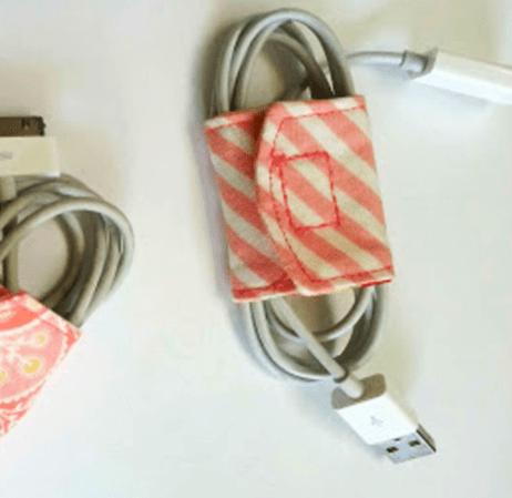 Cómo hacer una funda porta cables de tela