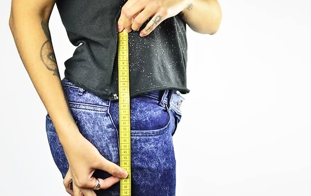 medidas de cadera para pareo de tela