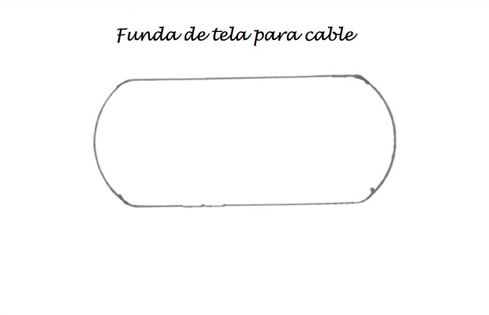 patrón de funda de tela para cables