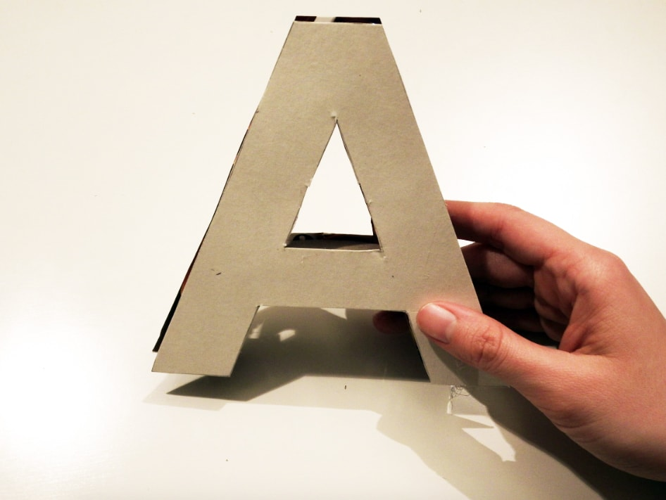 pegado de letras para letra de tela