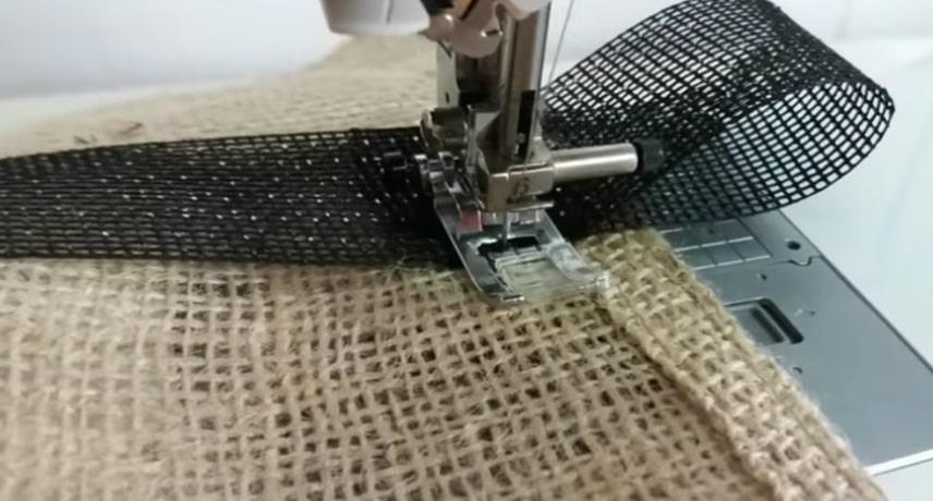 costura de asas para funda de tela