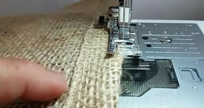 costura del dobladillo para funda de maceta